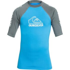 Quiksilver On Tour SS Shirt Boys, blu/grigio